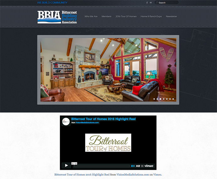 Missoula Web Design - Bitterroot Building Industry Association