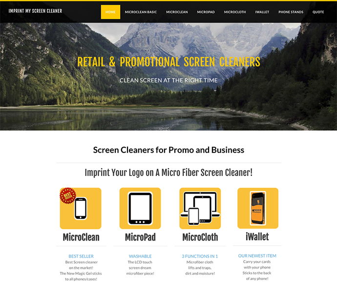 Missoula Website Design - Imprint My Screen Cleaner
